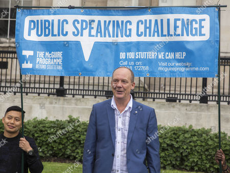 Lorry driver Tony Robinson takes on the ultimate public speaking challenge... making a speech in Trafalgar Sq