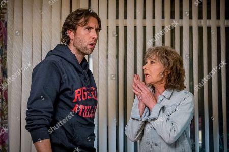 Stock Image of (Ep 3) - Matthew Lewis as Tom Dreyton and Zoe Wanamaker as Gail Stanley
