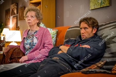 Stock Image of (Ep 3) - Valerie Lilley as Edna Pritchard and Matthew Lewis as Tom Dreyton