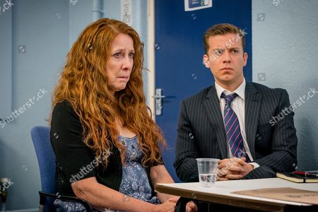Stock Picture of (Ep 3) - Phyllis Logan as Linda Hutchinson and Philip Cumbus as Andrew Thackery