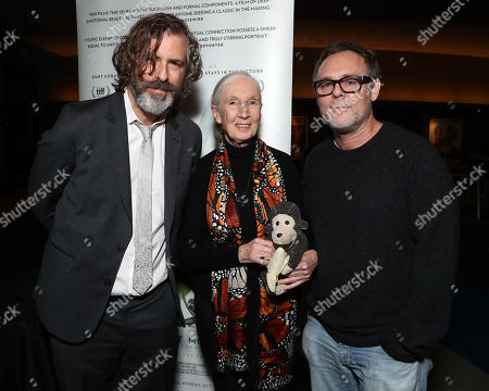 Director Brett Morgen, Jane Goodall and Producer Bryan Burk