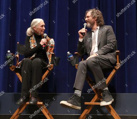 Jane Goodall and Director Brett Morgen