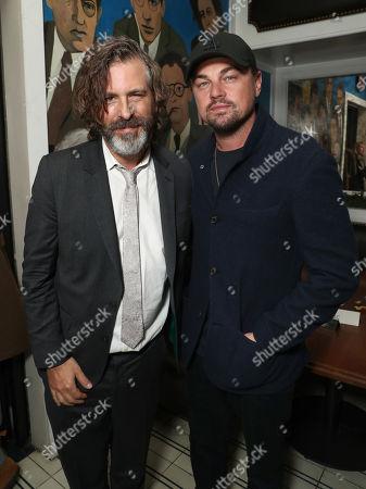 Director Brett Morgen and Leonardo DiCaprio