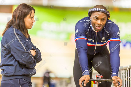 Stock Image of Gregory BAUGE (FRA - FRANCE, FRA) and coach