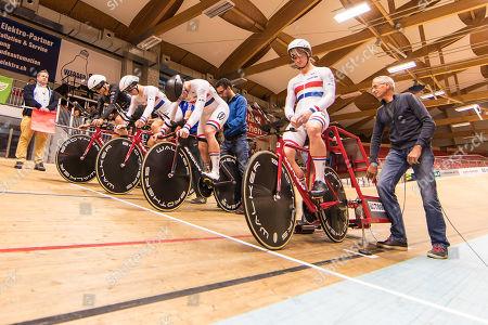 Winner men's team pursuit: Team KGF: Daniel BIGHAM (KGF - TEAM KGF, GBR), Charlie TANFIELD (KGF - TEAM KGF, GBR), Harry TANFIELD (KGF - TEAM KGF, GBR), Jonathan WALE