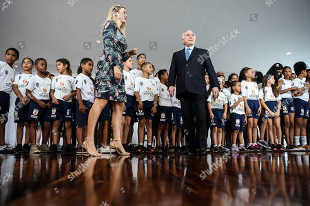 Michel Temer and Marcela Temer