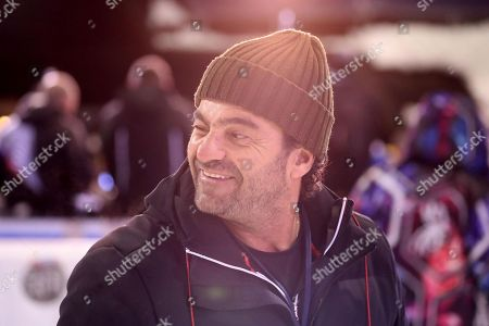 Italian ski legend Alberto Tomba smiles in the finish area during the Men's Slalom race at the FIS Alpine Skiing World Cup in Madonna di Campiglio, Italy, 22 December 2017.