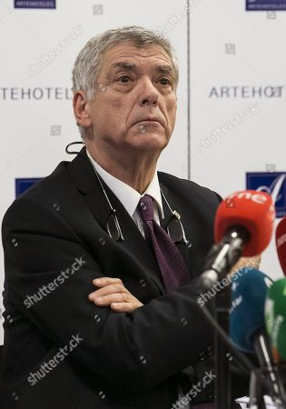(FILE) A file picture of former president of the Spanish Football Federation, Angel Maria Villar, as he attends a press conference in Madrid, Spain, 18 December 2017 (reissued 22 December 2017). Angel Maria Villar announced 22 December 2017 he will appeal against his dismissal by Spanish Sports Adminsitrative Cout (TAD), that decided to suspend him upon corruption accusations and as part of the so-called 'Soule' anti-corruption investigation.
