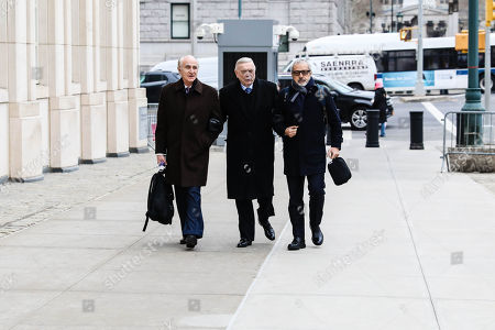Former Brazilian Football Confederation (CBF) president José Maria Marin arrives at the Federal Court in Brooklyn, New York, in the United States for another day of his trial before the US Justice Court on Friday