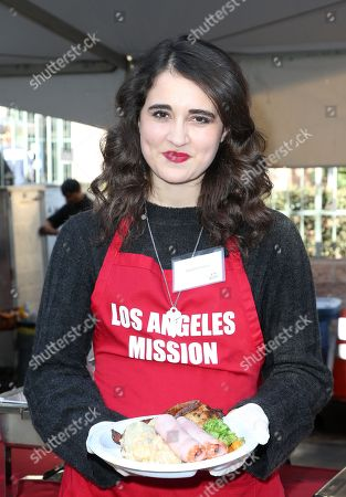 Editorial photo of Los Angeles Mission's Christmas celebration on Skid Row, Los Angeles, USA - 22 Dec 2017