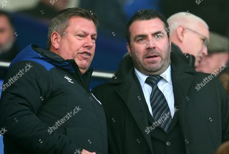 Stock Image of Former Everton Caretaker Manager David Unsworth with Everton Assistant Manager Craig Shakespeare