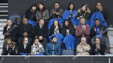 QPR owner Tony Fernandes and Director of Football Les Ferdinand sitting in Directors Box