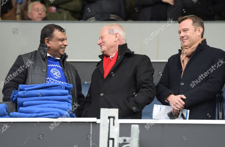QPR Chairman Tony Fernandes with Bristol City owner Stephen Lansdown (L) and CEO Mark Ashton (R)