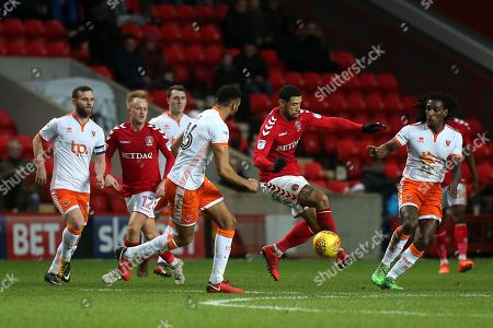 Leon Best of Charlton Athletic in action during Charlton Athletic vs Blackpool, Sky Bet EFL League 1 Football at The Valley on 23rd December 2017