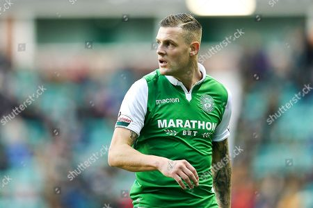 Stock Photo of Anthony Stokes (#28) of Hibernian during the Ladbrokes Scottish Premiership match between Hibernian and Ross County at Easter Road, Edinburgh