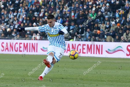 Spal's Federico Viviani scores a goal during the Italian Serie A soccer match S.P.A.L. 2013 vs Torino FC at Paolo Mazza stadium in Ferrara, Italy, 23 December 2017.
