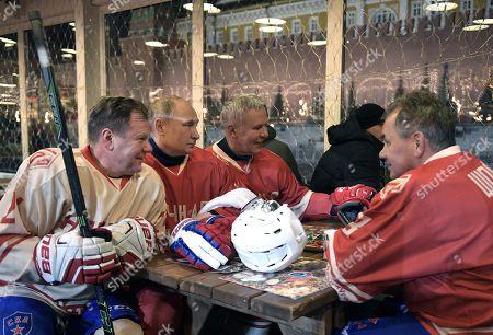 Vladimir Putin, Igor Butman and Sergei Shoigu