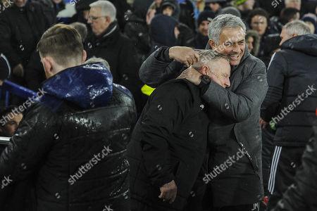 Mourinho and Sammy Lee share a joke