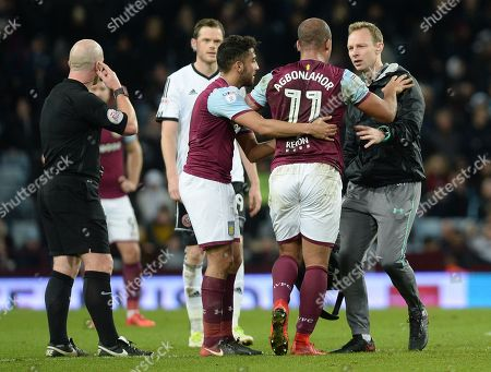 Stock Picture of Gabriel Agbonlahor of Aston Villa is treated for an injury during the Sky Bet Championship match at Villa Park, Birmingham