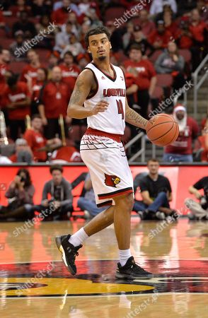 44b3b1449 Louisville guard Quentin Snider (4) in action during the second half of an  NCAA
