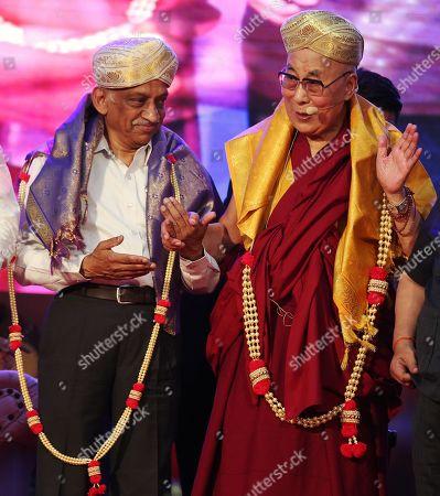 Dalai Lama, Tenzin Gyatso and AS Kiran Kumar