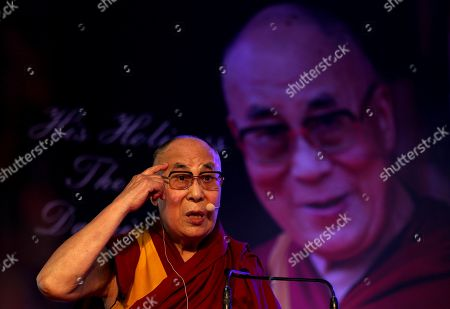 Stock Photo of Dalai Lama and Tenzin Gyatso