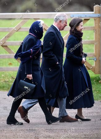 Camilla Duchess of Cornwall and Prince Charles and Lady Sarah Chatto