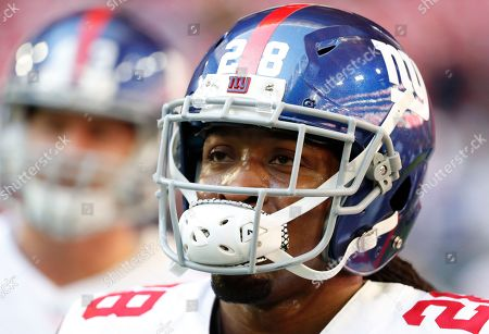 New York Giants running back Paul Perkins (28) during an NFL football game against the Arizona Cardinals, in Glendale, Ariz. The Cardinals won 23-0