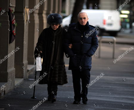 Editorial image of Dan Peterson out and about, Milan, Italy - 22 Dec 2017