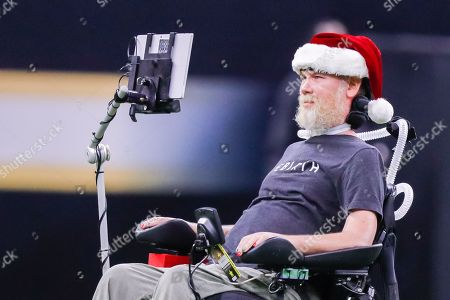 Stock Picture of Former New Orleans Saints player Steve Gleason at the Mercedes-Benz Superdome in New Orleans, LA. New Orleans Saints defeated Atlanta Falcons 23-13