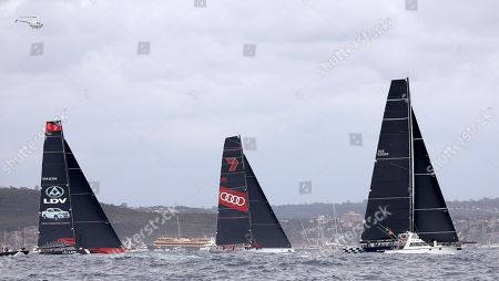 Black Jack, Wild Oats XI, LDV Comanche. The supermaxis Black Jack, right, Wild Oats XI and LDV Comanche, left, pass the heads of Sydney Harbour during the start of the Sydney Hobart yacht race in Sydney, . The 630-nautical mile race has102 yachts starting in the race to the island state of Tasmania