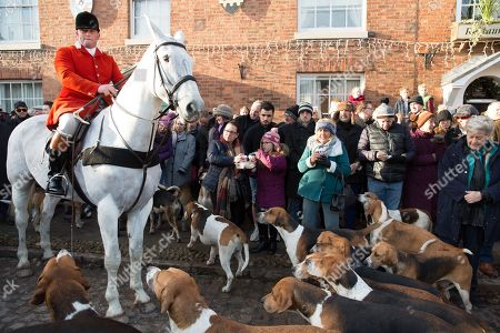 Market Bosworth Boxing Day Hunt Leicestershire Stock Photos