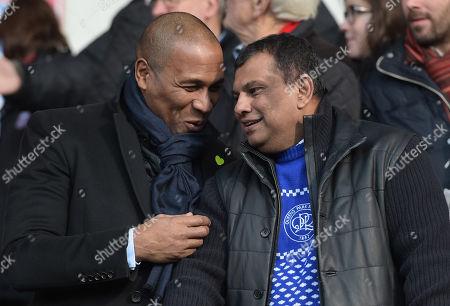 QPR Chairman Tony Fernandes and QPR Director of Football Les Ferdinand