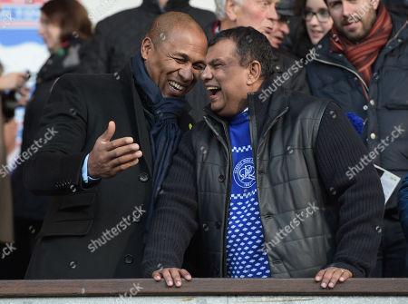 QPR Director of Football Les Ferdinand and QPR Chairman Tony Fernandes