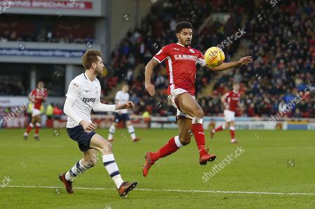 Barnsley's Zeki Fryers controls the ball