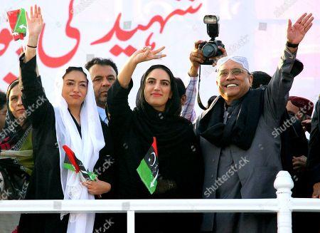 Asif Zardari, Bilawal Bhutto and Asifa Bhutto Zardari