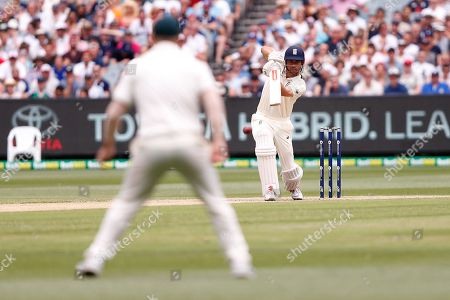 Alistair Cook plays a cover drive during day three of the Australia v England fourth test at the Melbourne Cricket Ground, Melbourne