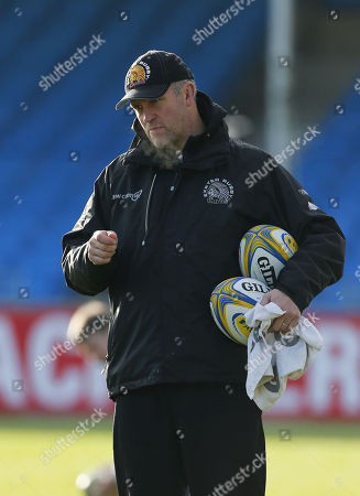 Exeter Chiefs Assistant Coach, Robin Hunter during Exeter Chiefs training at Sandy Park on December 28th 2017, Exeter, Devon, UK.
