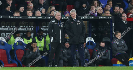 Roy Hodgson Manager of Crystal Palace and Crystal Palace assistant manager, Ray Lewington during the Premier League match between Crystal Palace and Arsenal on 28th December 2017 at Selhurst Park Stadium, Croydon, London.