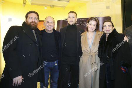 Biagio Forestieri, Ferzan Ozpetek, Alessandro Borghi, Anna Bonaiuto and Lina Sastri