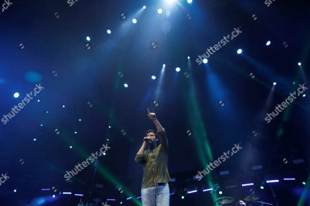 Spanish band 'Taburete' singer Willy Barcenas performs during a concert held at WiZink Center in Madrid, Spain, 28 December 2017 (issued 29 December 2017). Spanish singer Willy Barcenas of 'Taburete' is well-kown for being the son of former treasurer of the People's Party (PP) Luis Barcenas who is curently on trial accused of bribery, money laundering and tax evasion on the Guertel corruption case.