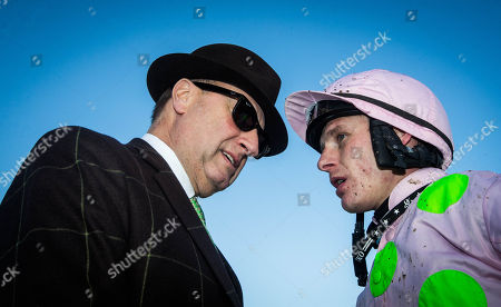 The Willis Towers Watson Irish EBF Mares Hurdle. Owner Rich Ricci and jockey Paul Townend after winning with Let's Dance