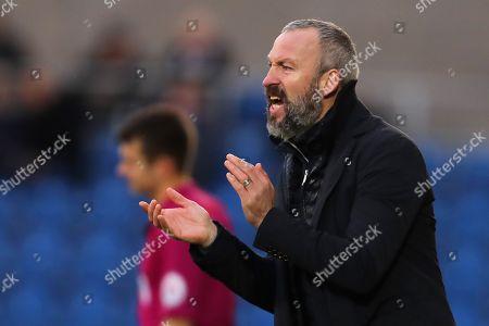 Manager of Cambridge United, Shaun Derry - Colchester United v Cambridge United, Sky Bet League Two, Weston Homes Community Stadium, Colchester - 1st January 2018.