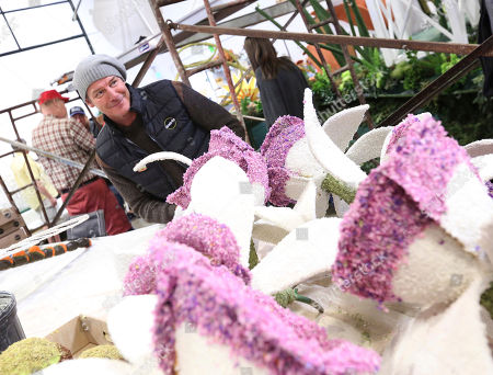 TV personality, Ty Pennington teams up with The Official Rose and Flower Care Company of the Tournament of Roses, Miracle-Gro, to kick-off their 2018 Rose Parade campaign on in Irwindale, Calif. Pennington is returning to ride the Miracle-Gro Rose Parade float for the third year in a row