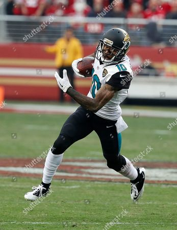 Jacksonville Jaguars wide receiver Jaelen Strong (10) against the San Francisco 49ers during an NFL football game in Santa Clara, Calif