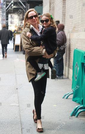 Stock Photo of Uma Thurman and Luna Thurman-Busson