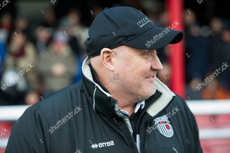 Grimsby Town Manager Russell Slade during the EFL Sky Bet League 2 match between Grimsby Town FC and Accrington Stanley at Blundell Park, Grimsby