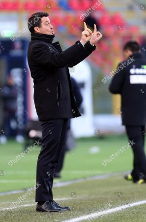 Udinese's head coach Massimo Oddo gestures during the Italian Serie A Soccer match between Bologna and Udinese at Renato Dall'Ara Stadium in Bologna, 30 December 2017.