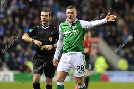 Anthony Stokes during the Ladbrokes Scottish Premiership match between Hibernian and Kilmarnock at Easter Road, Edinburgh