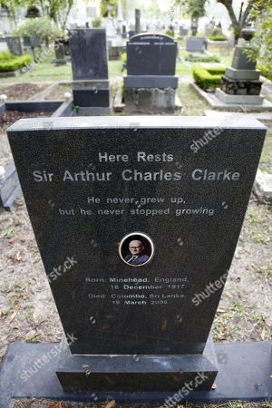 Editorial picture of Tombstone of Sir Arthus C. Clarke in Sri Lanka, Colombo - 30 Dec 2017
